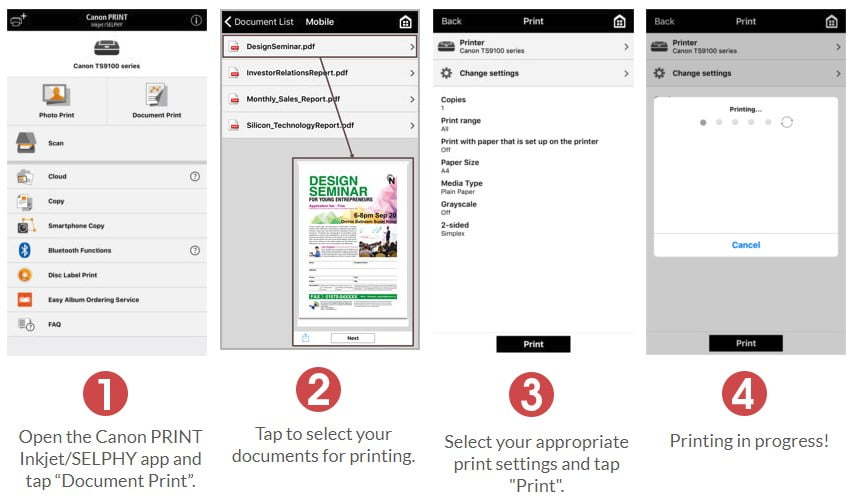 Canon PRINT Document For iOS